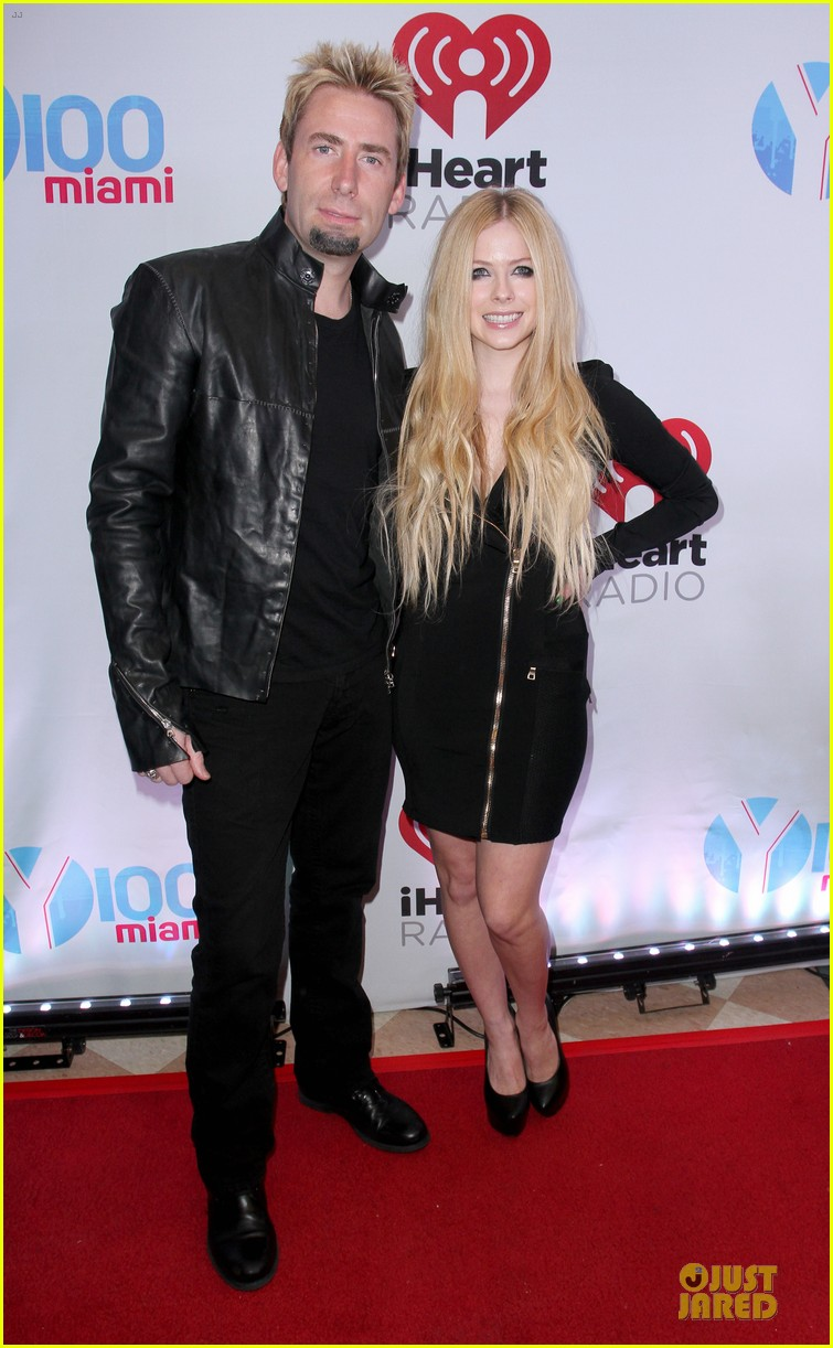 avril lavigne chad kroeger y100 jingle ball 2013 pair 013015625
