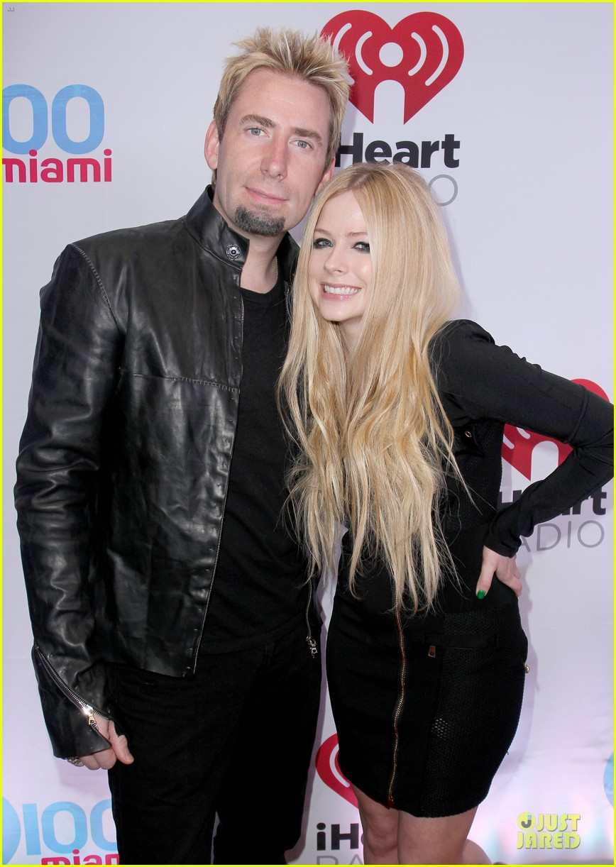avril lavigne chad kroeger y100 jingle ball 2013 pair 023015626