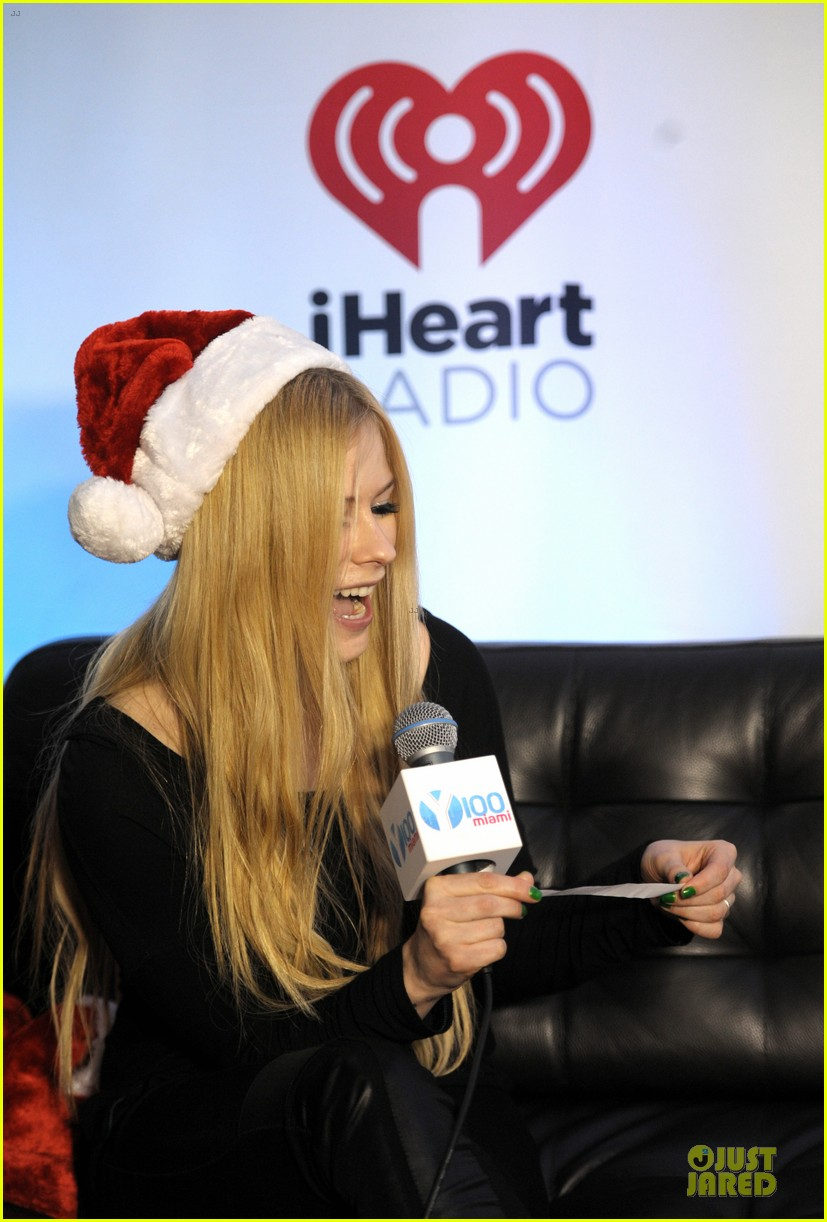 avril lavigne chad kroeger y100 jingle ball 2013 pair 15