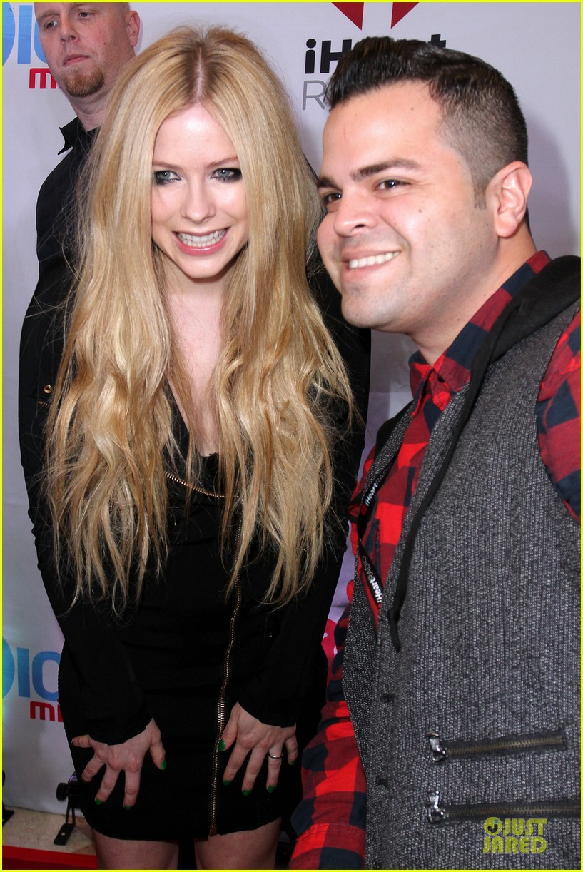 avril lavigne chad kroeger y100 jingle ball 2013 pair 263015650