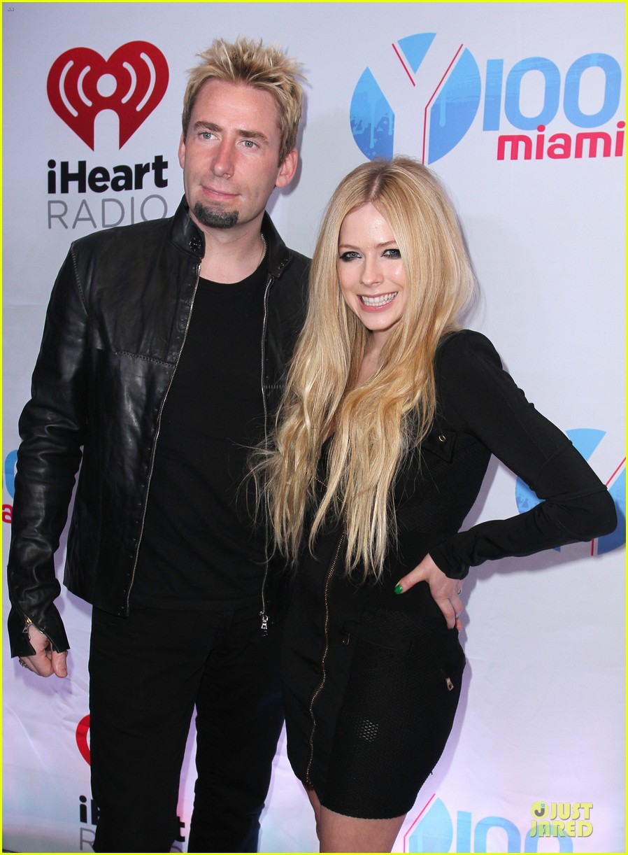 avril lavigne chad kroeger y100 jingle ball 2013 pair 283015652
