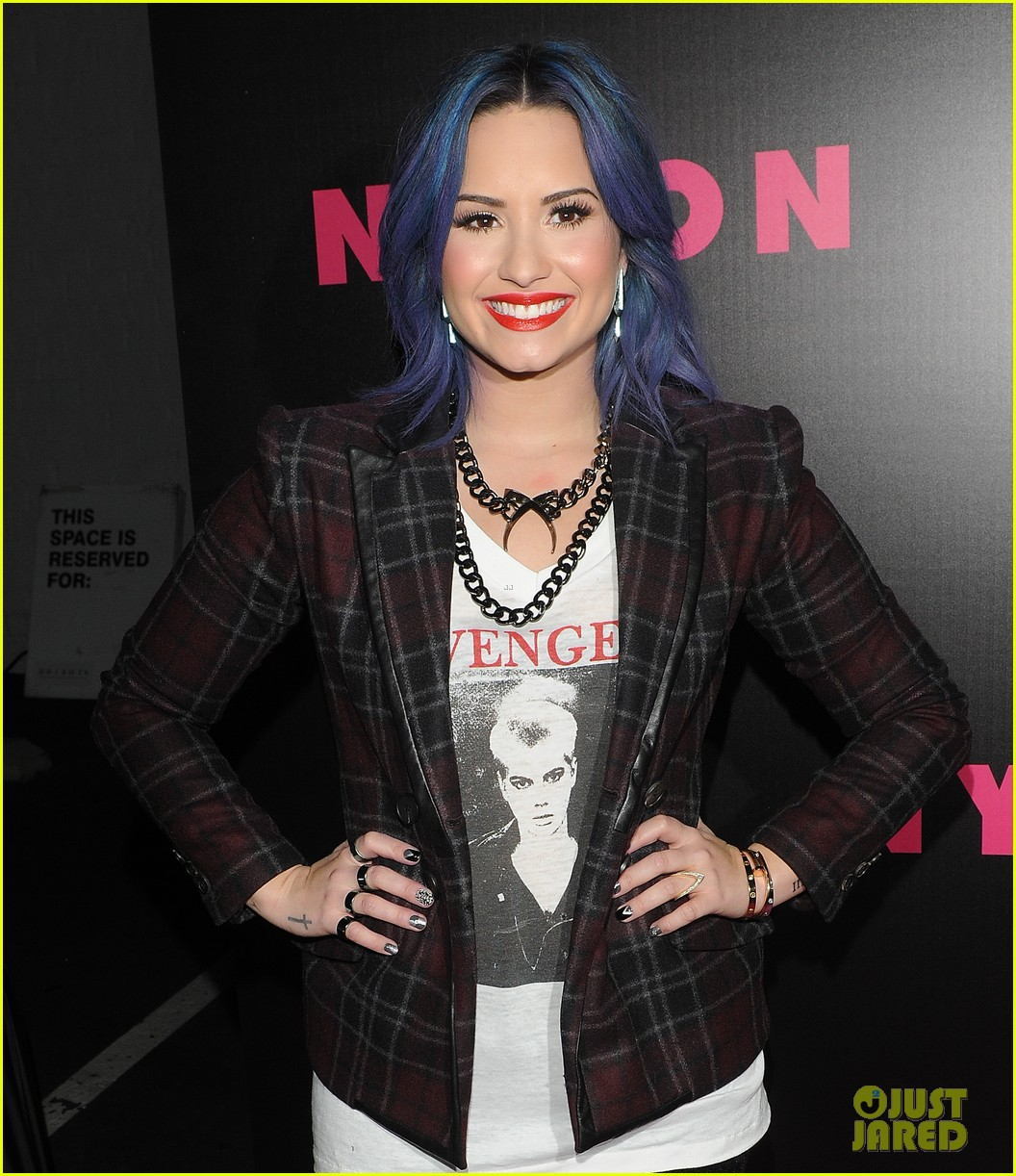 demi lovato mustachioed joe jonas nylon magazine party 063006017