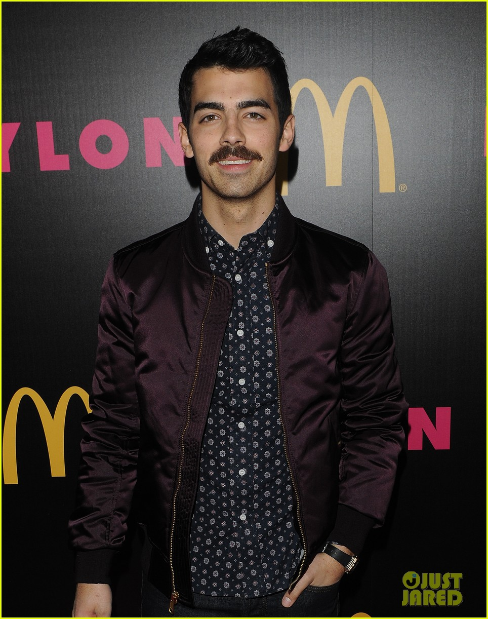 demi lovato mustachioed joe jonas nylon magazine party 073006018