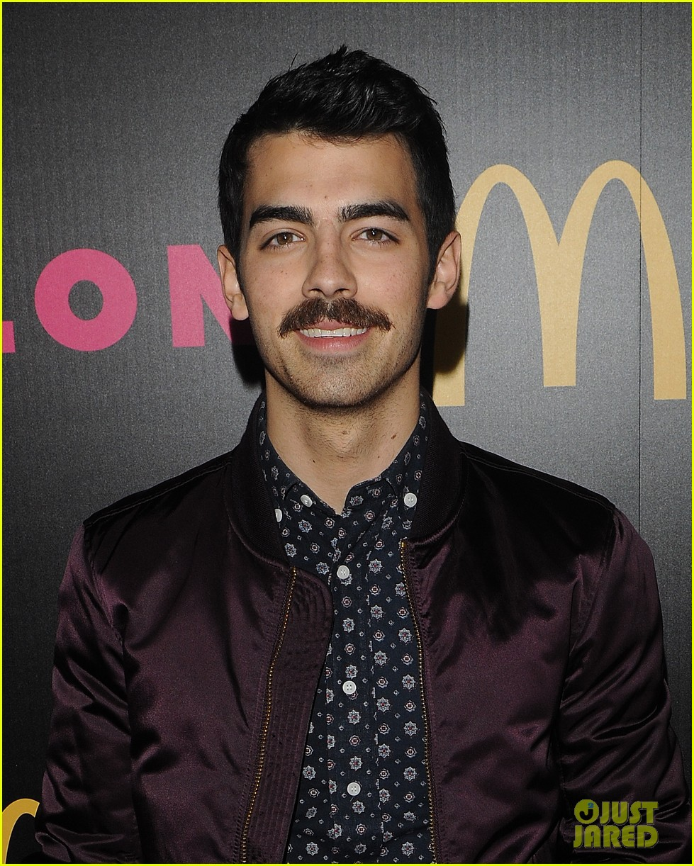 demi lovato mustachioed joe jonas nylon magazine party 133006024