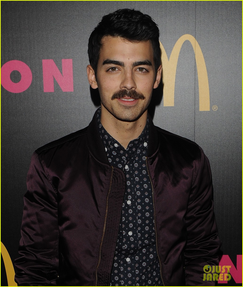 demi lovato mustachioed joe jonas nylon magazine party 15