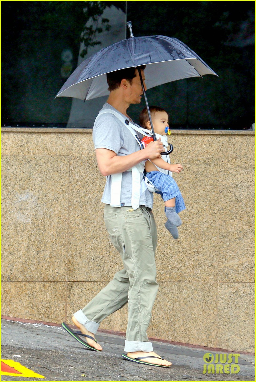 matthew mcconaughey rainy post christmas stroll with livingston 133017831