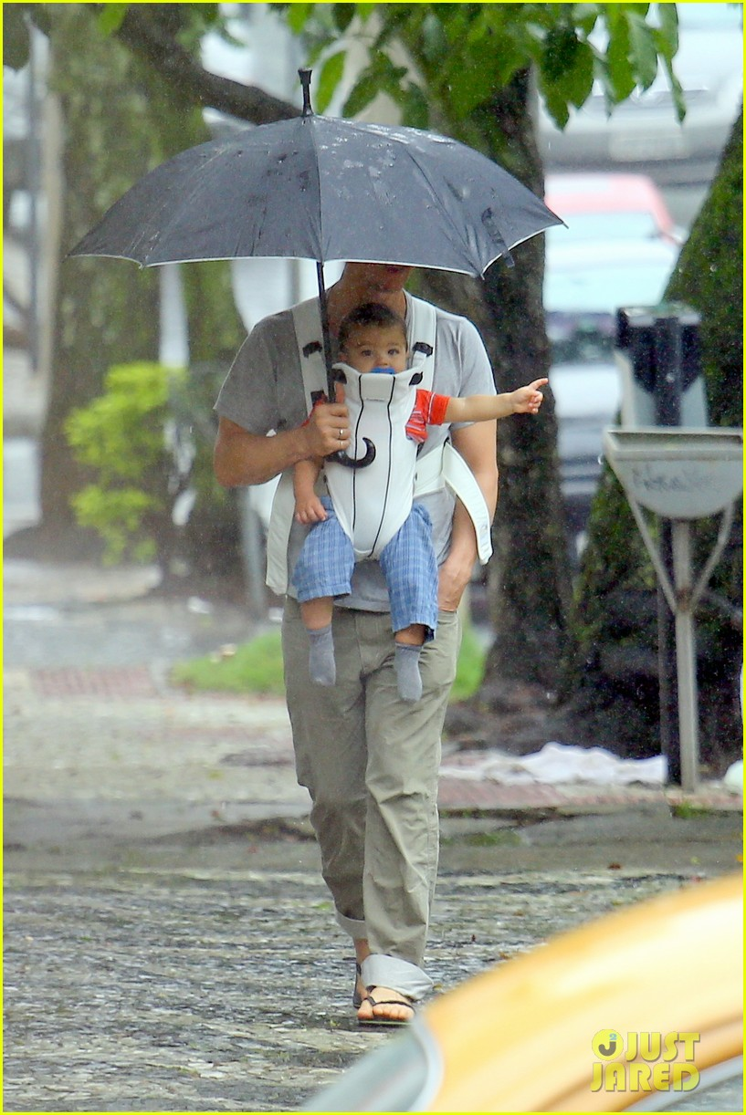 matthew mcconaughey rainy post christmas stroll with livingston 223017840