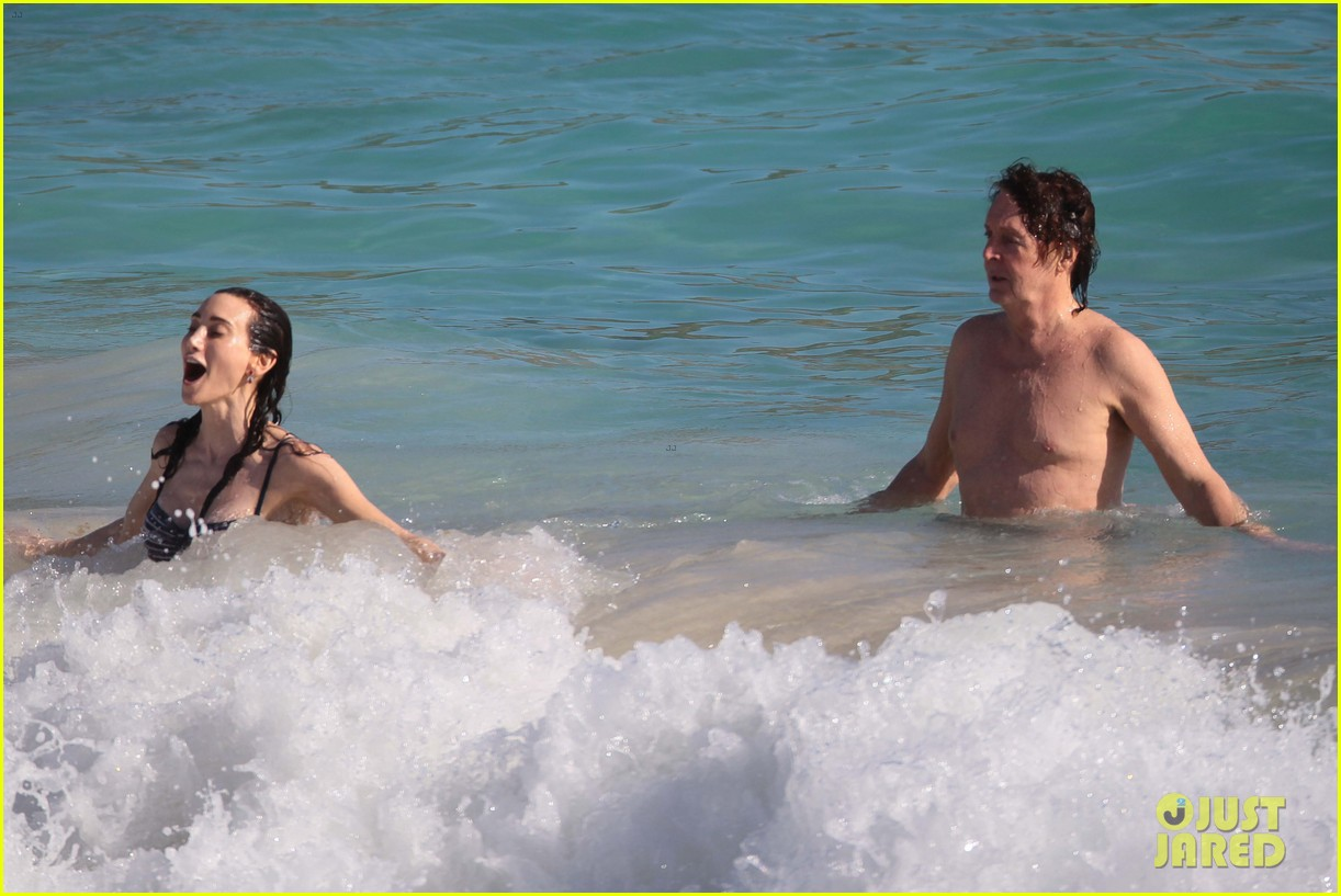 paul mccartney shirtless vacation with wife nancy shevell 073018498