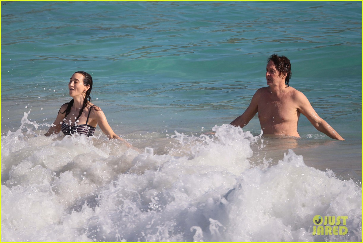 paul mccartney shirtless vacation with wife nancy shevell 083018499