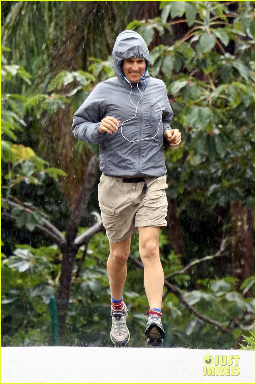 matthew mcconaughey braves the rain for a run in brazil 063018362