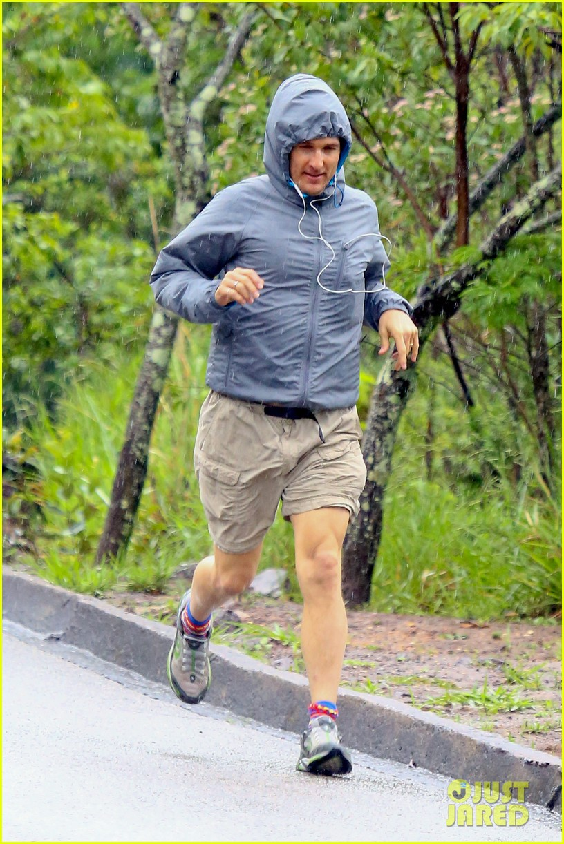 matthew mcconaughey braves the rain for a run in brazil 093018365