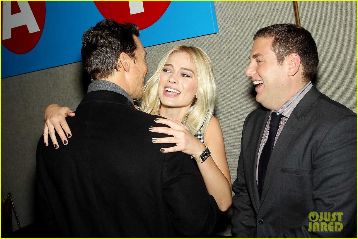 matthew mcconaughey wolf of wall street luncheon with margot robbie 253014591