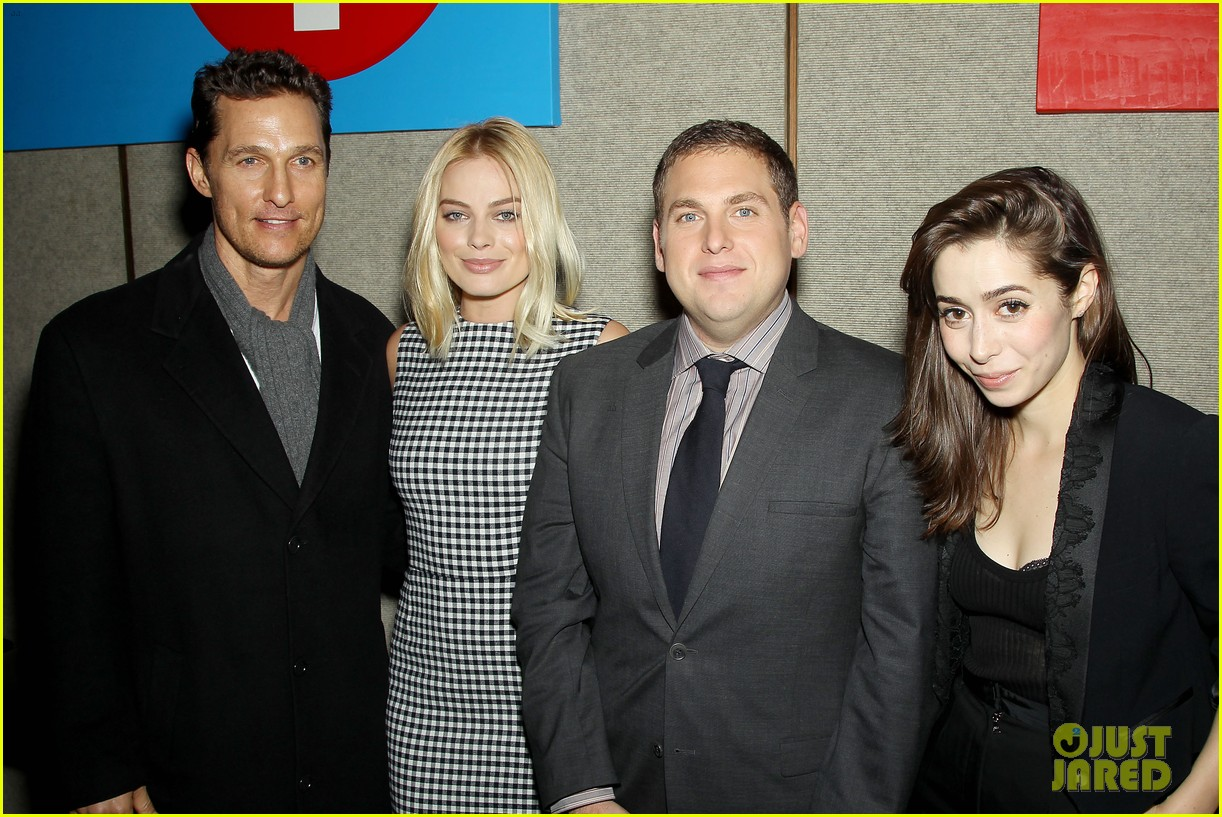 matthew mcconaughey wolf of wall street luncheon with margot robbie 273014593