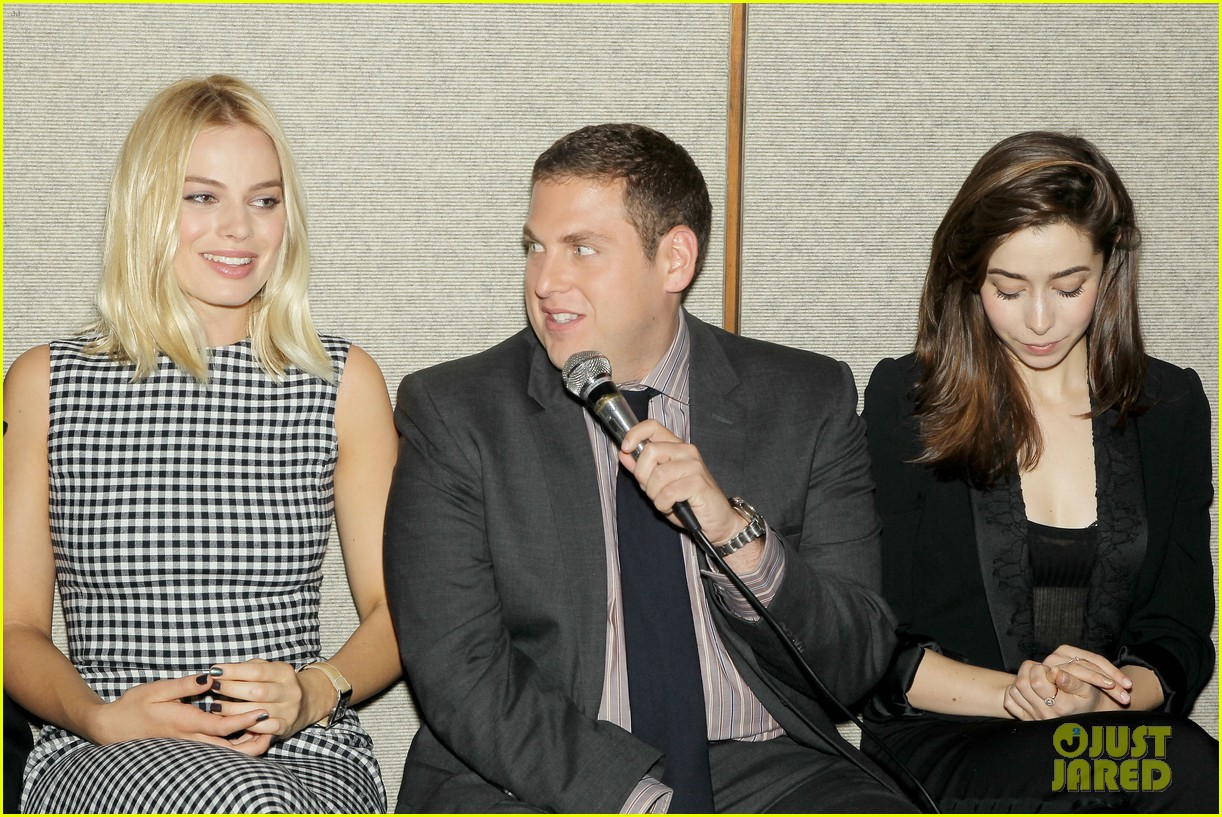matthew mcconaughey wolf of wall street luncheon with margot robbie 323014598