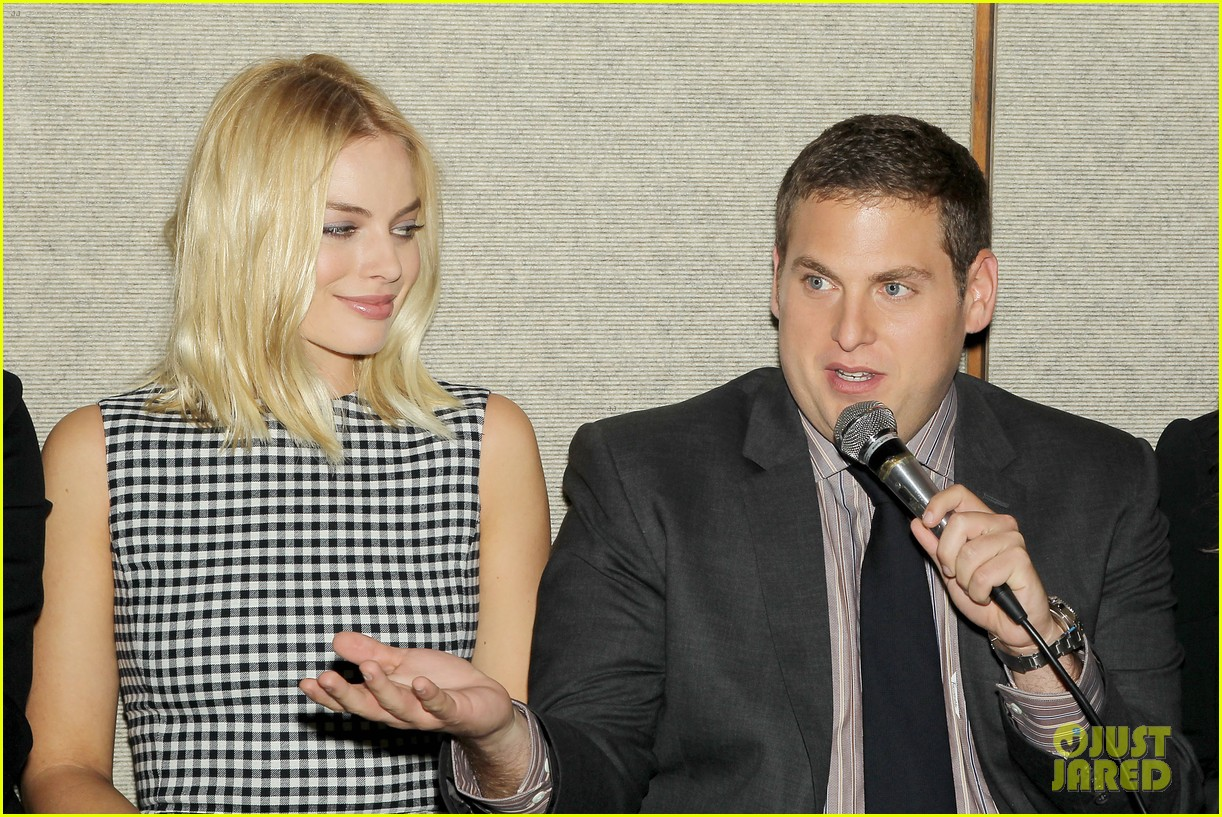 matthew mcconaughey wolf of wall street luncheon with margot robbie 333014599