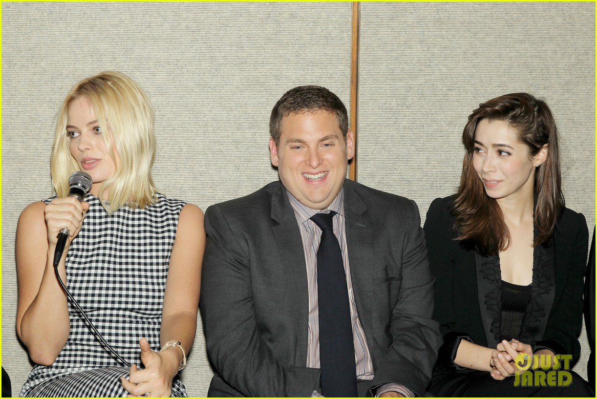 matthew mcconaughey wolf of wall street luncheon with margot robbie 363014602