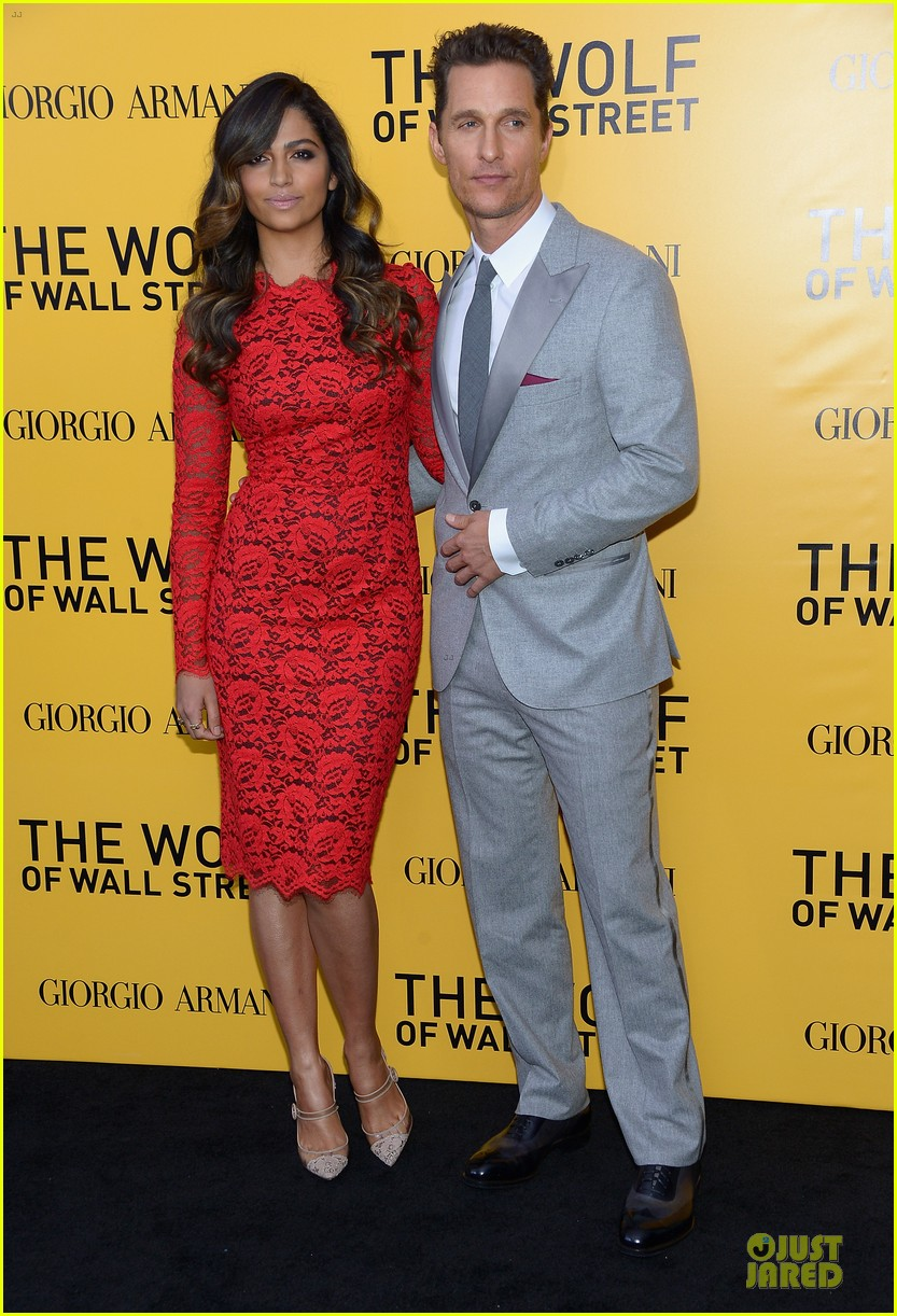 matthew mcconaughey camila alves wolf of wall street nyc premiere 013013852