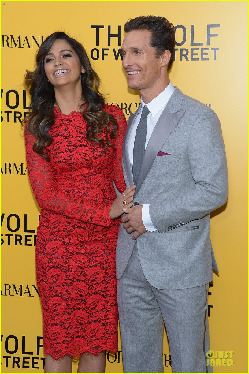 matthew mcconaughey camila alves wolf of wall street nyc premiere 123013863