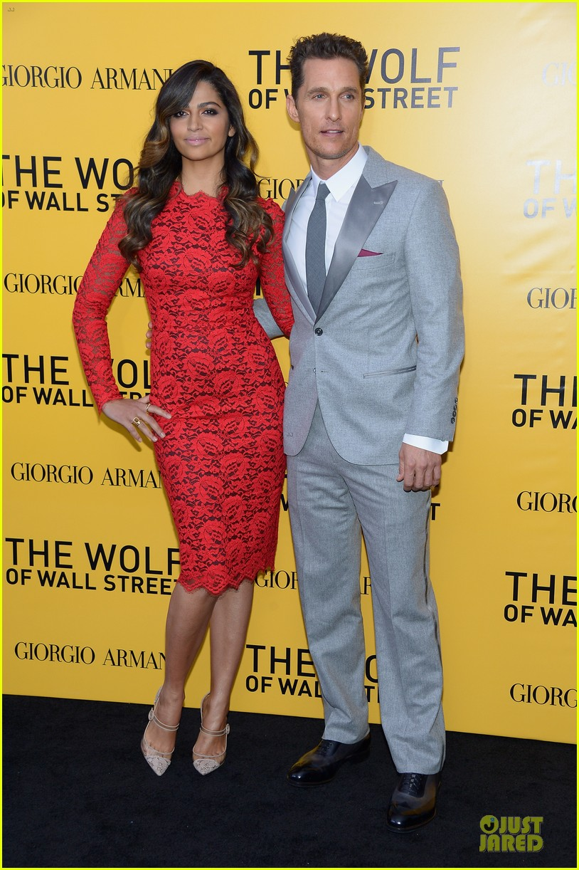 matthew mcconaughey camila alves wolf of wall street nyc premiere 193013870