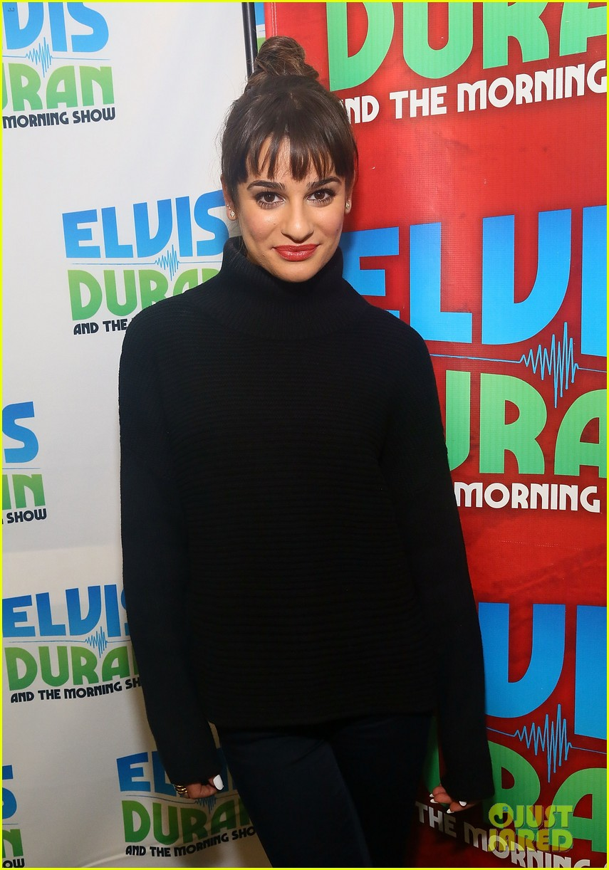 lea michele cannonball makes radio debut with elvis duran 143012928