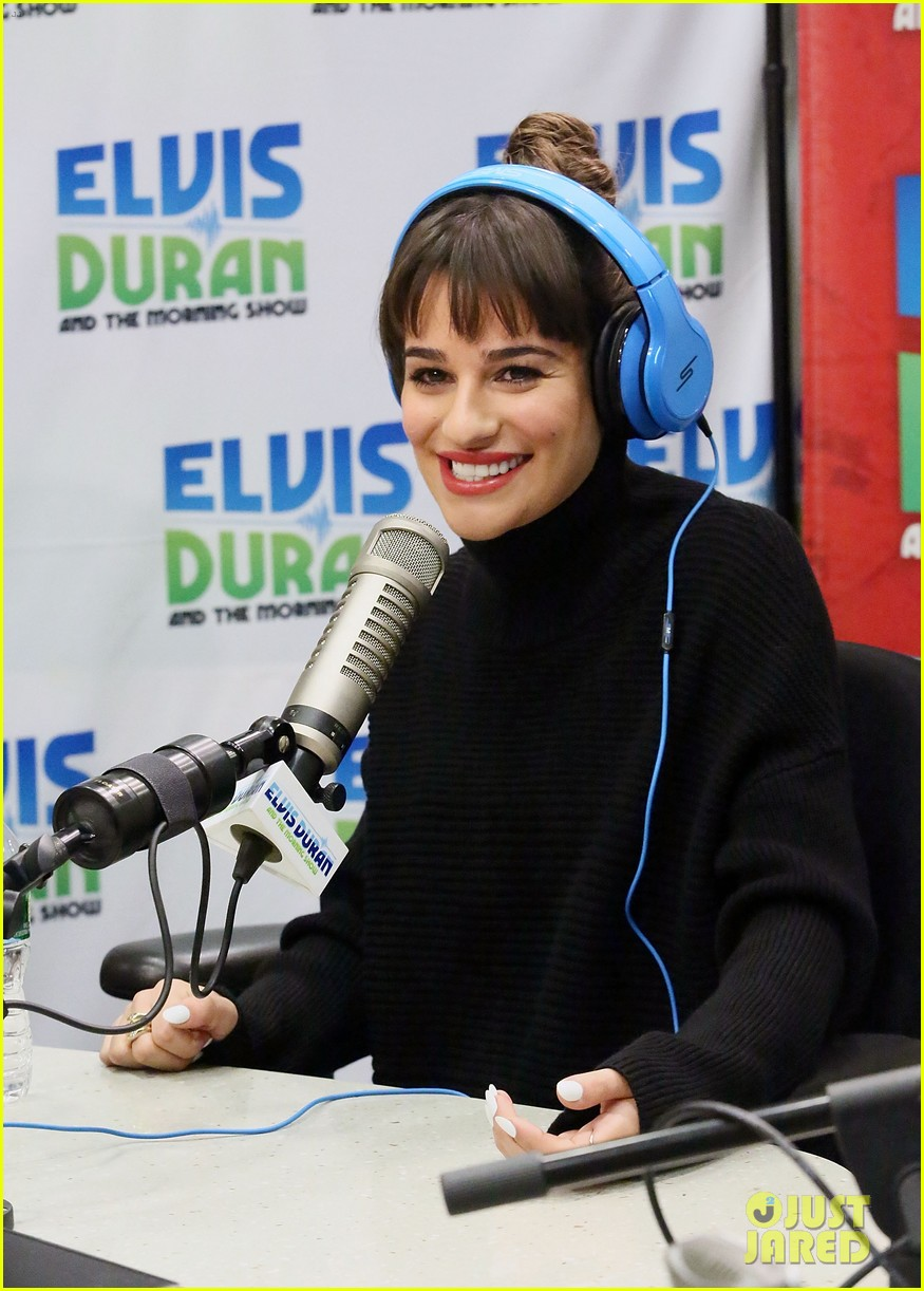 lea michele cannonball makes radio debut with elvis duran 153012929