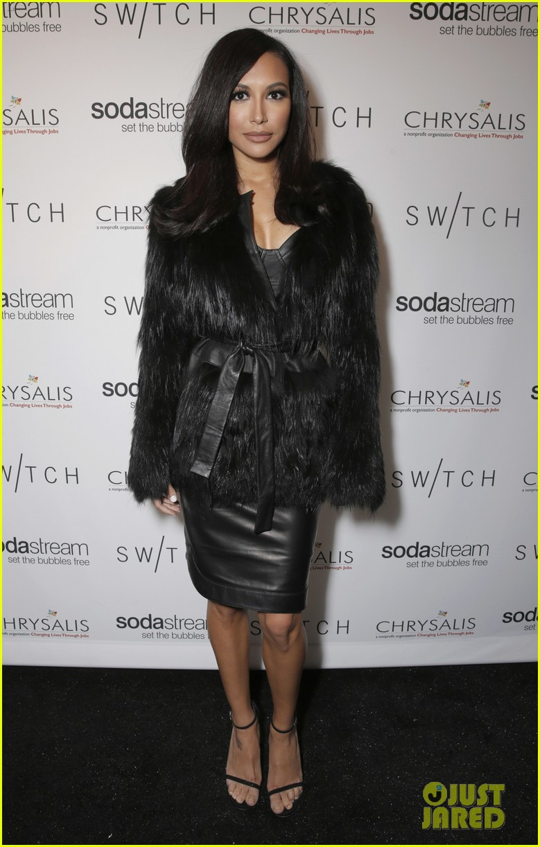 lea michele naya rivera switch boutique holiday party 053012365