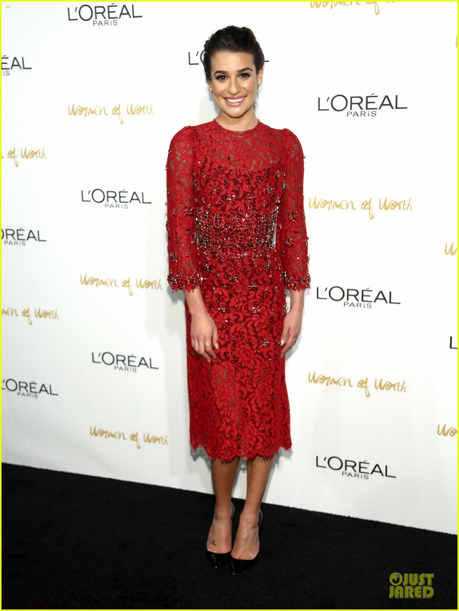lea michele red hot at loreal paris women of worth 013004541