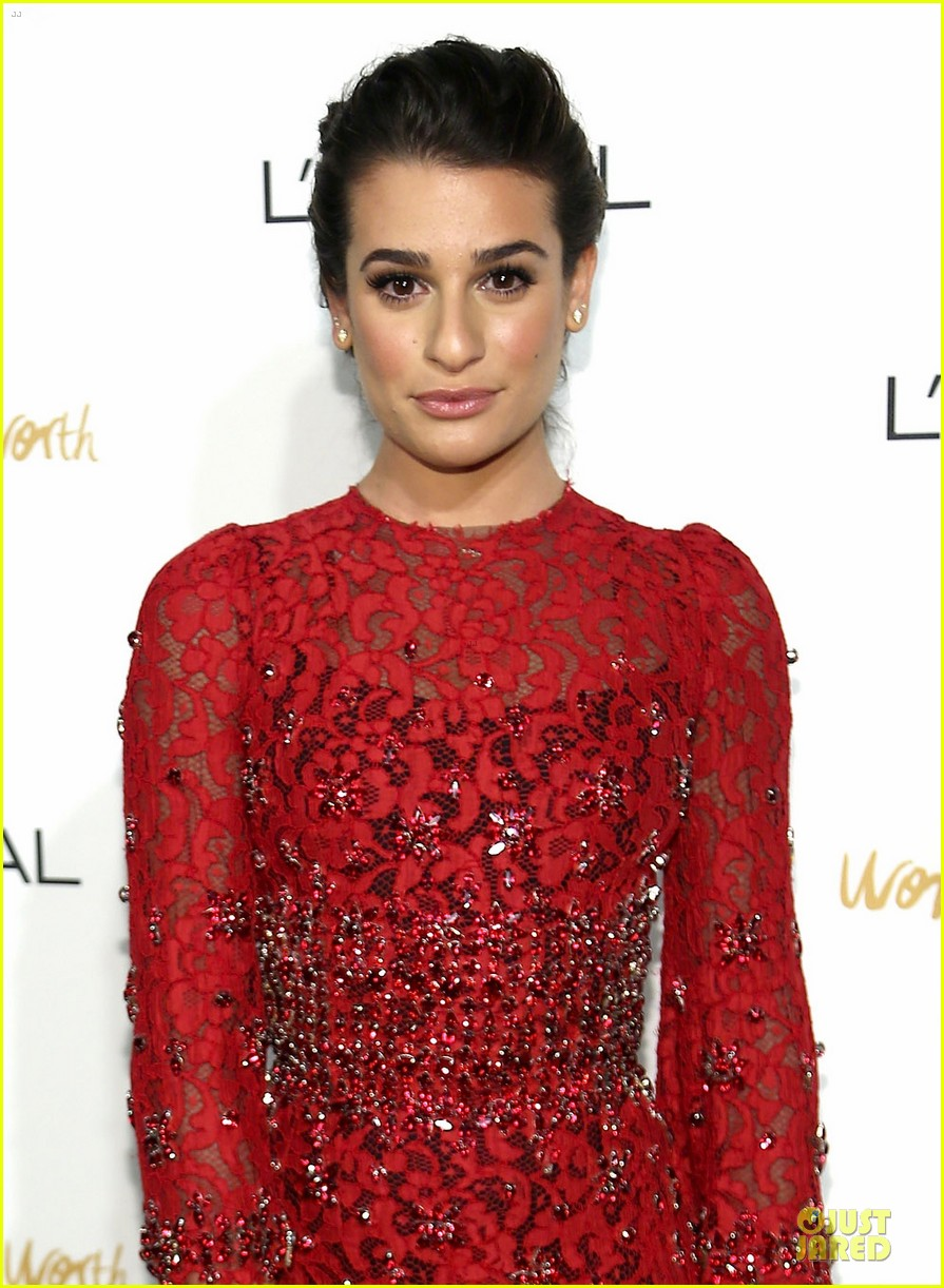 lea michele red hot at loreal paris women of worth 023004542