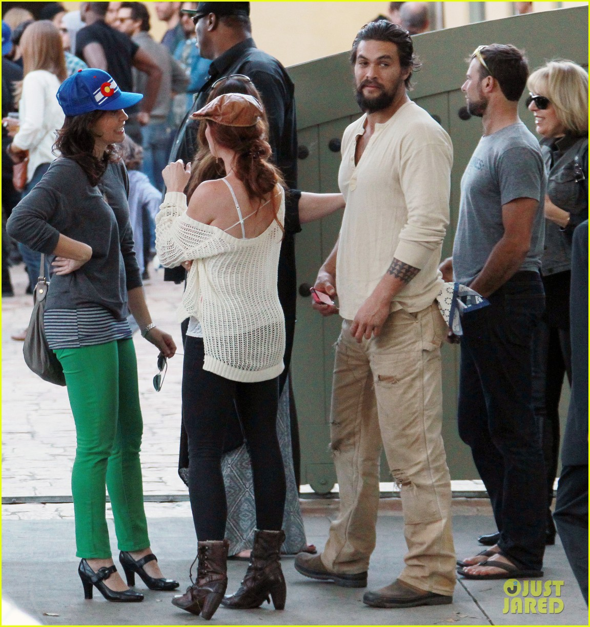 Jason Momoa: Beverly Hills Party With Mystery Redhead