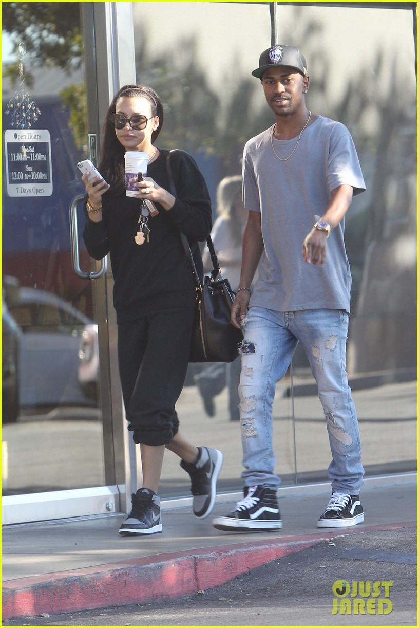 naya rivera big sean casual coffee couple 013019463