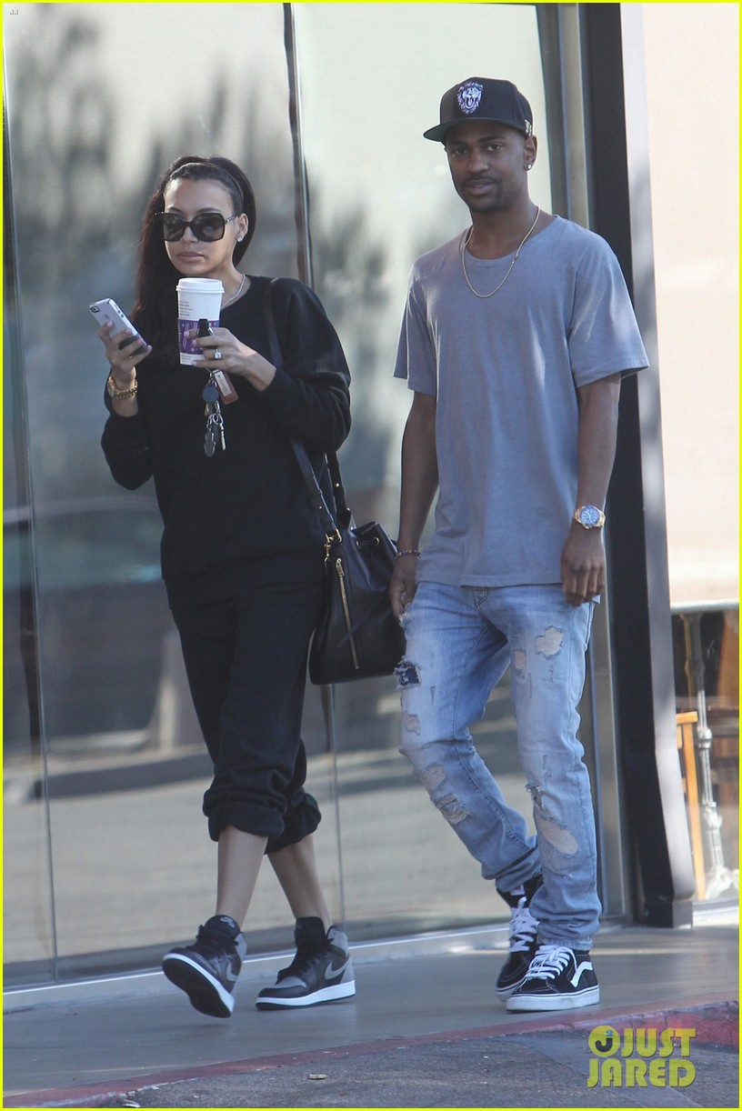 naya rivera big sean casual coffee couple 05