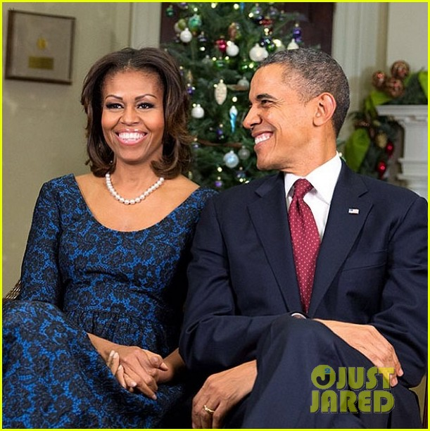 president michelle obama share christmas photos 01