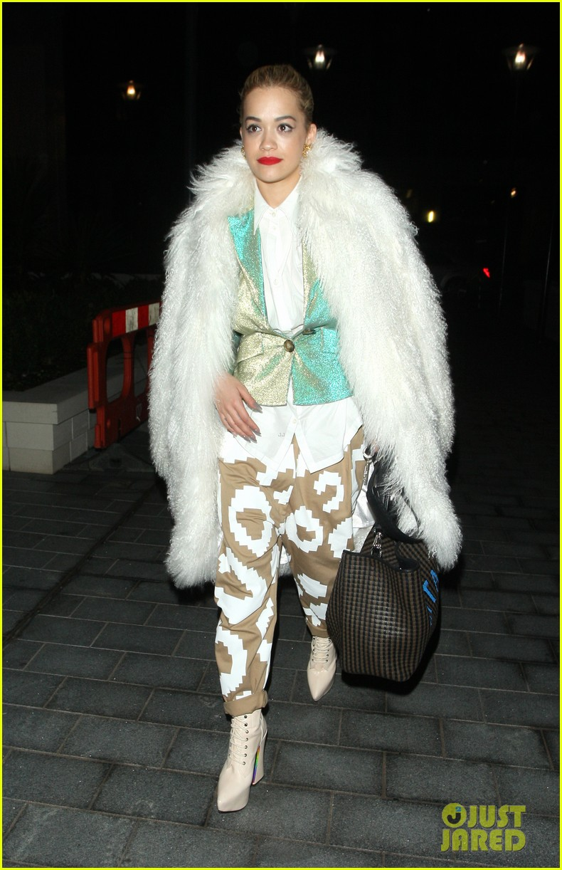 rita ora enjoys dinner out while home in london 113010700