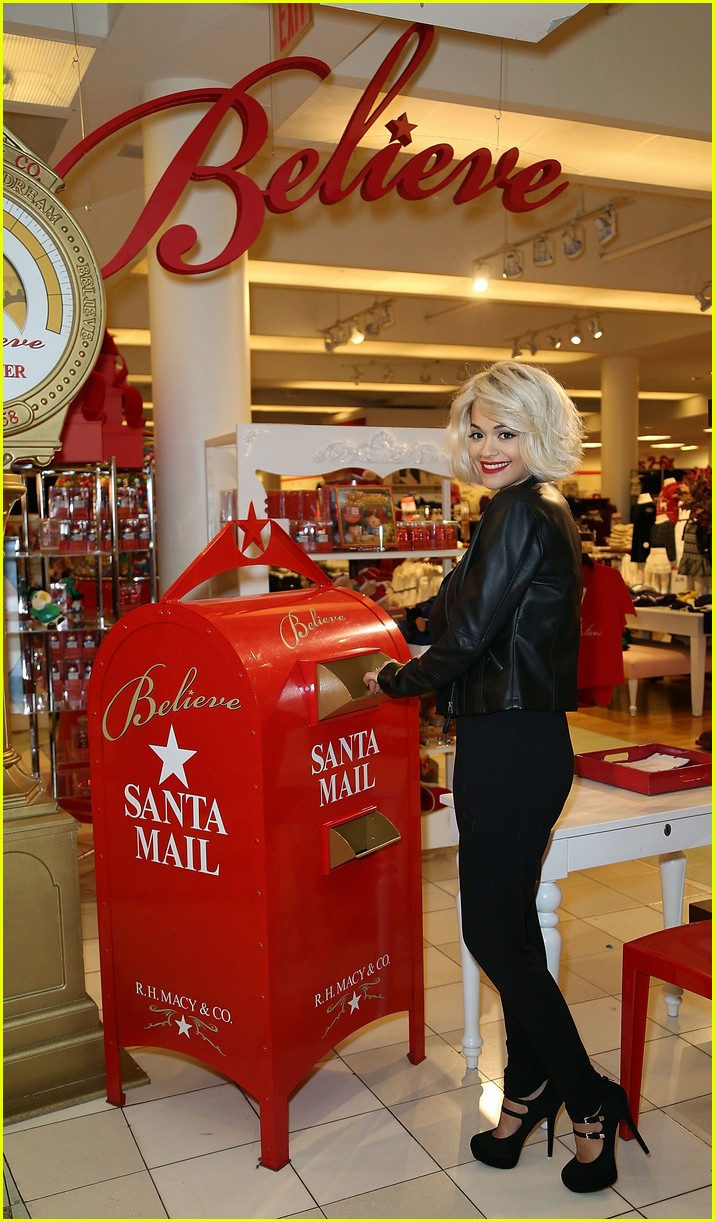 rita ora material girl holiday collection celebration with santa 093008597