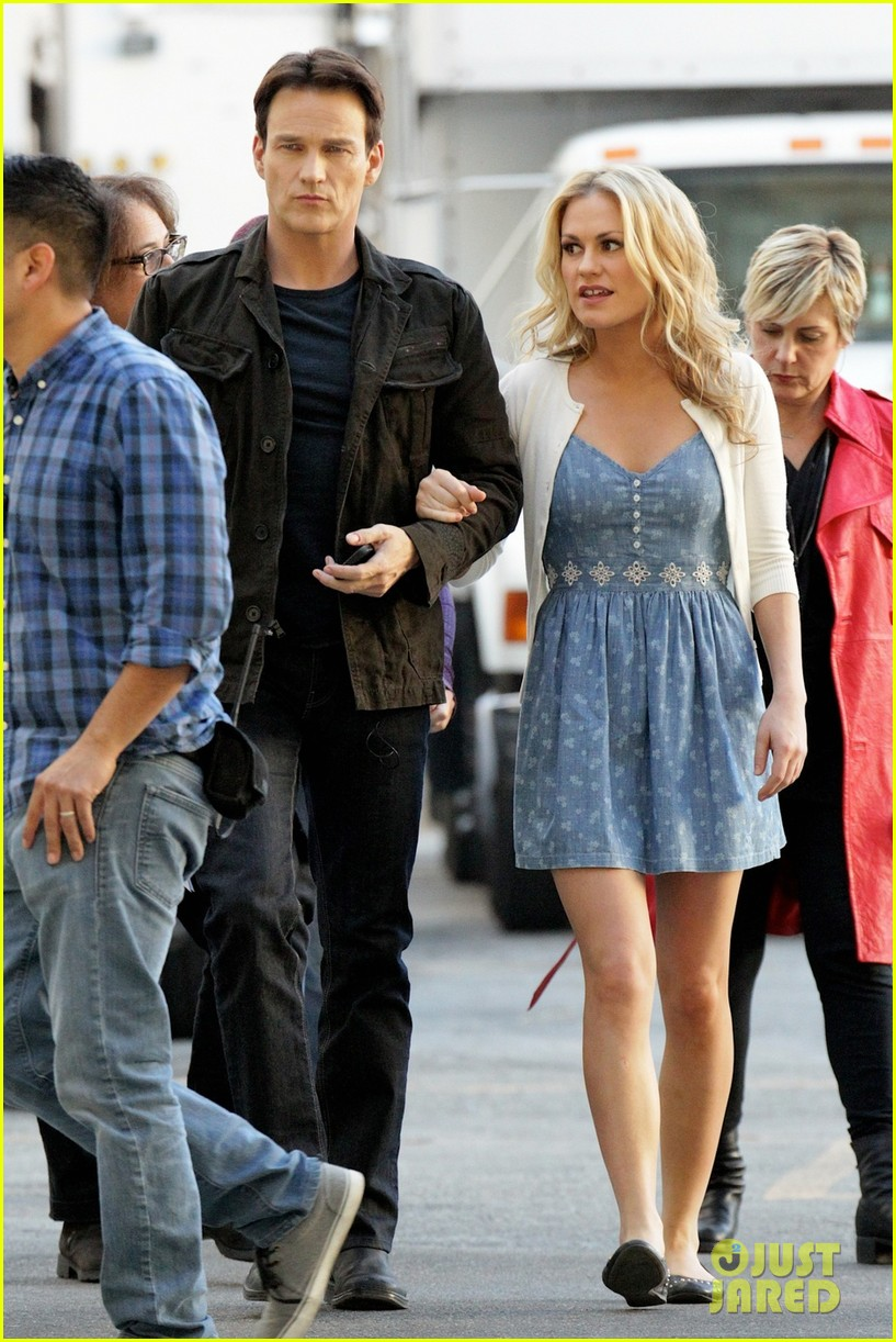 anna paquin stephen moyer commercial shoot couple 033010538