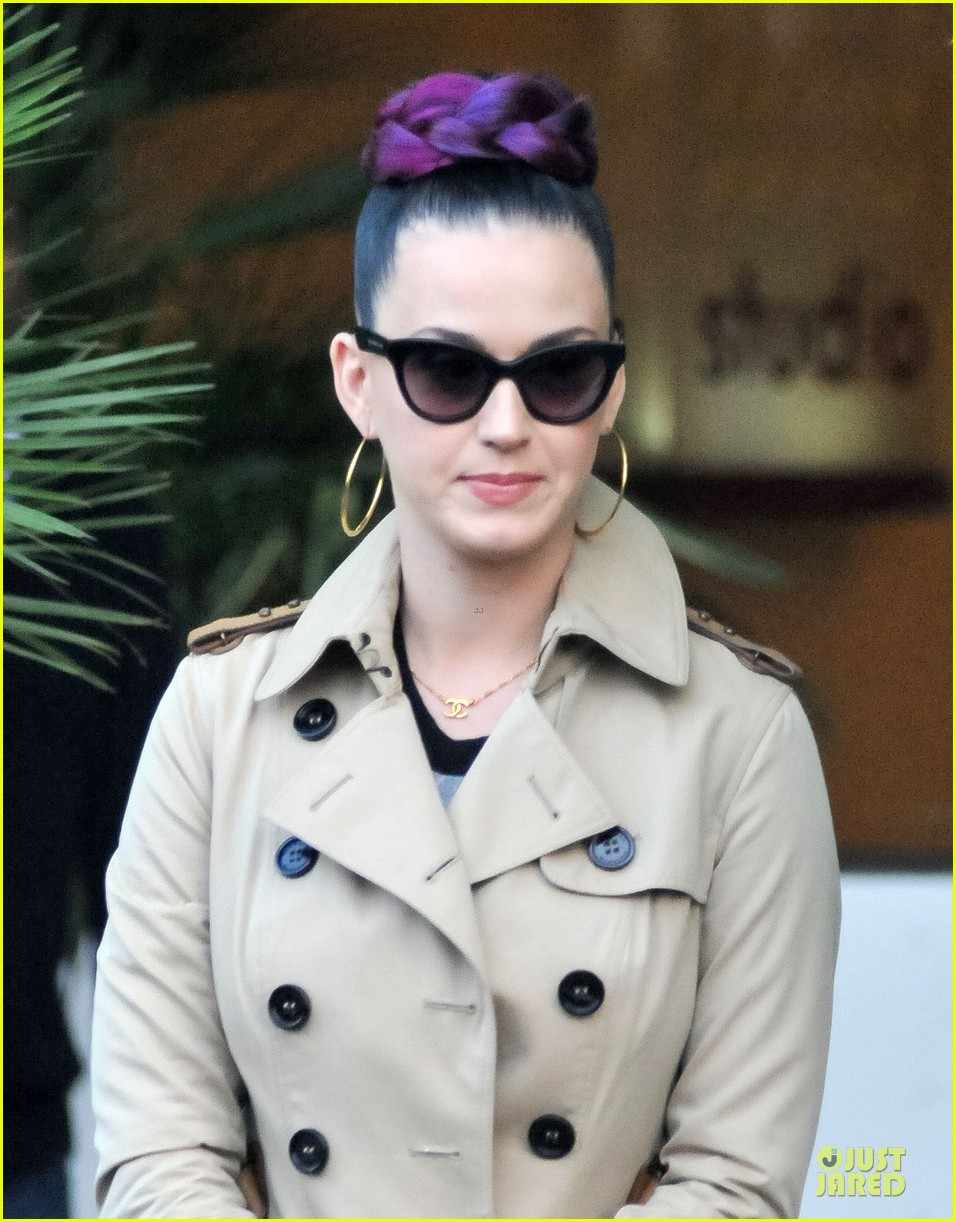 katy perry rocks purple hair braids for itv studios 073010308