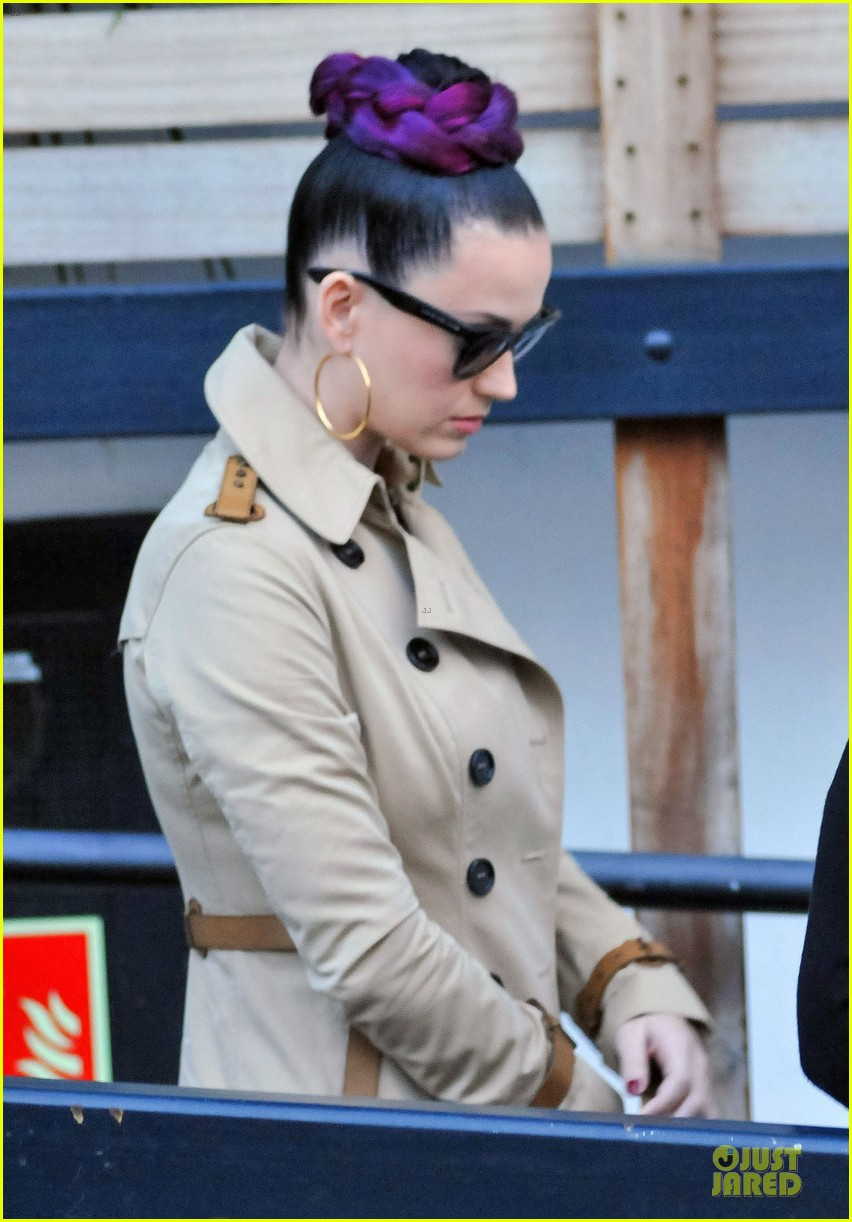 katy perry rocks purple hair braids for itv studios 083010309