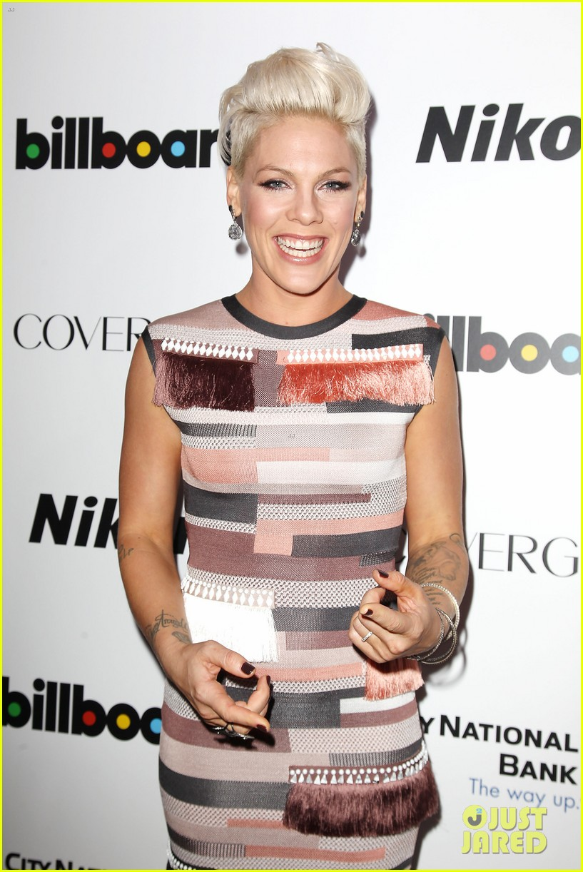 pink billboard women in music event with carey hart 063009181