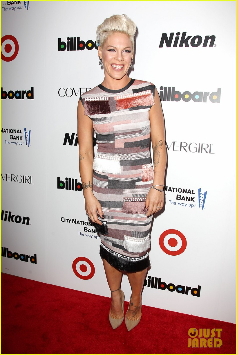 pink billboard women in music event with carey hart 073009182