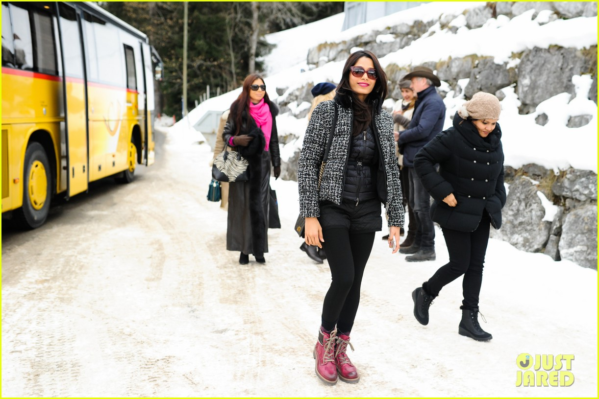freida pinto asmallworld winter weekend in switzerland 403013106