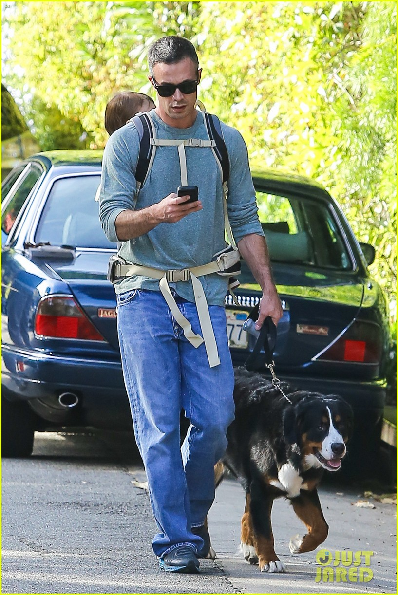 freddie prinze jr walks the dog with son rocky 06