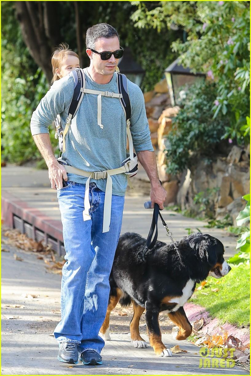 freddie prinze jr walks the dog with son rocky 133012864