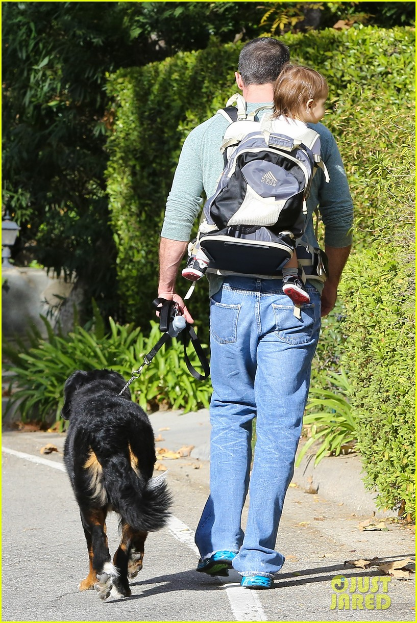 freddie prinze jr walks the dog with son rocky 143012865