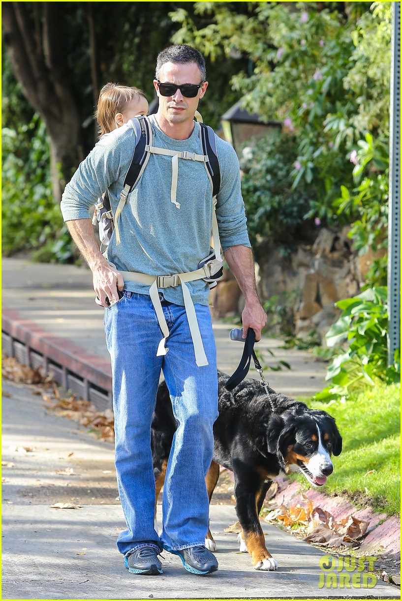 freddie prinze jr walks the dog with son rocky 153012866
