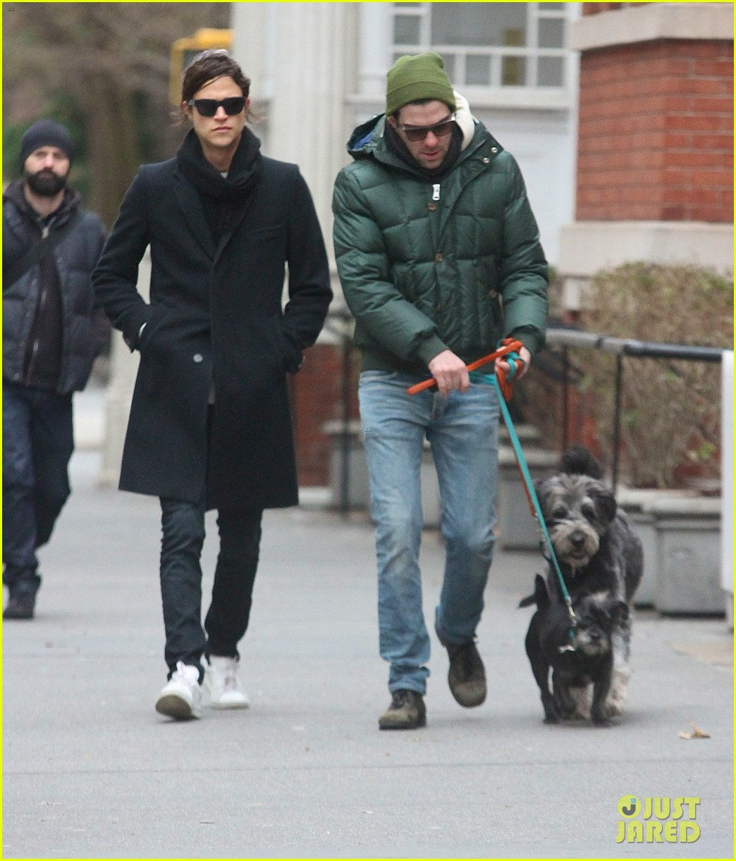 zachary quinto boyfriend miles mcmillan walk their dogs 023019866