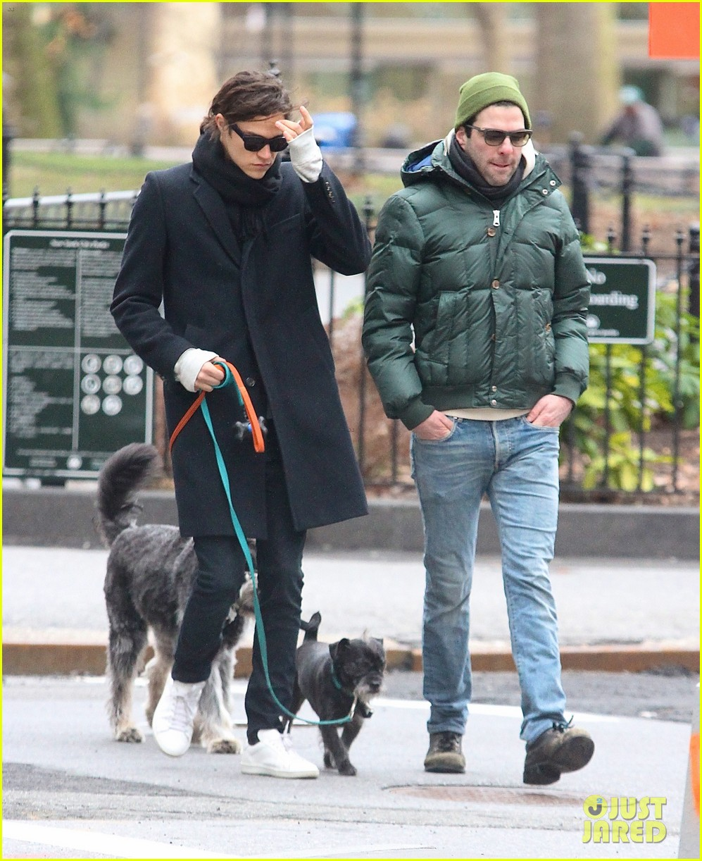 zachary quinto boyfriend miles mcmillan walk their dogs 033019867