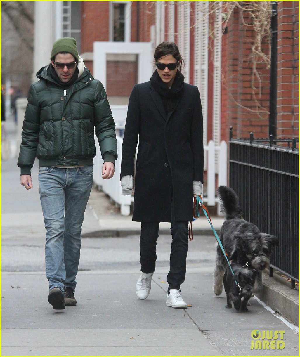 zachary quinto boyfriend miles mcmillan walk their dogs 04