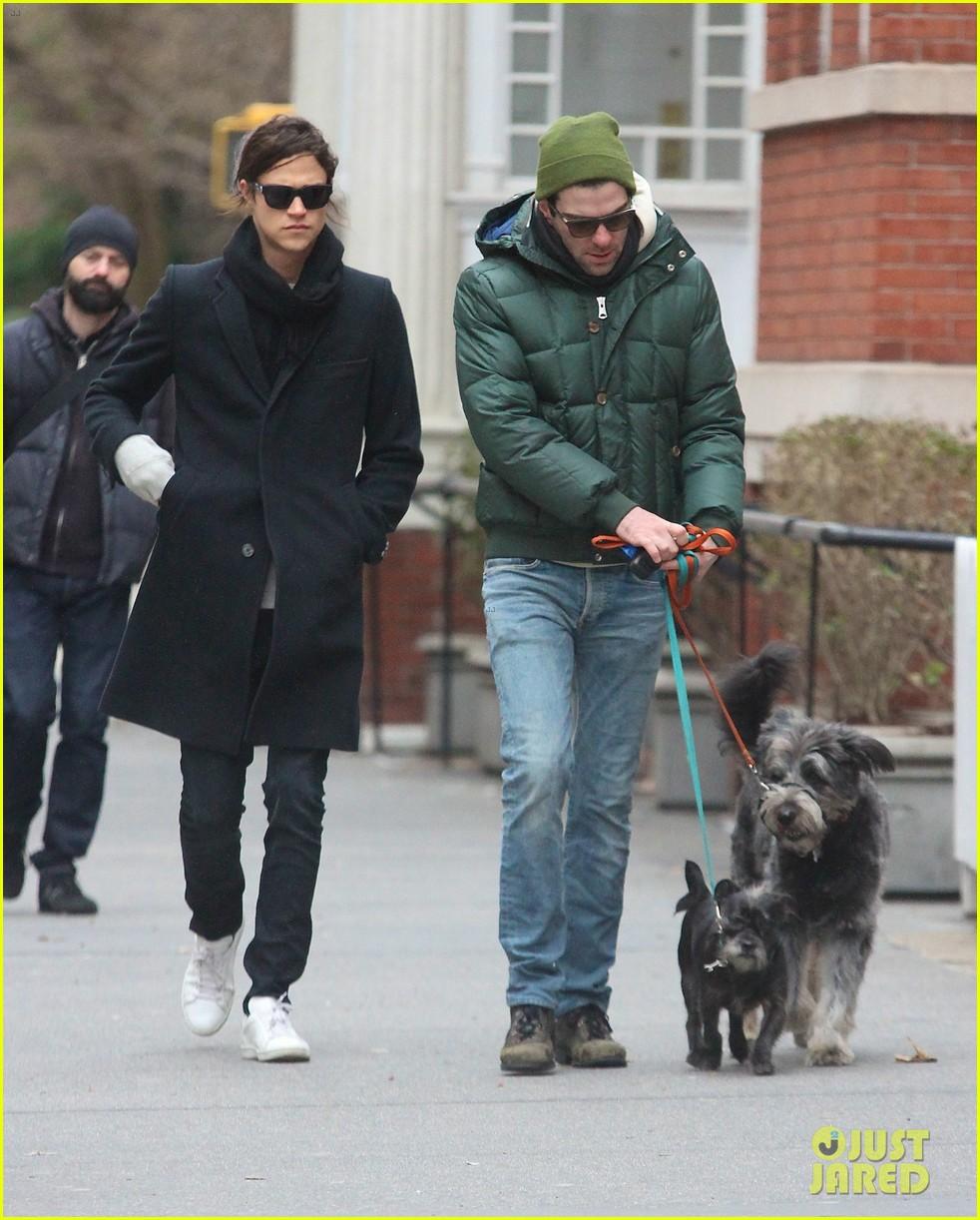 zachary quinto boyfriend miles mcmillan walk their dogs 053019869