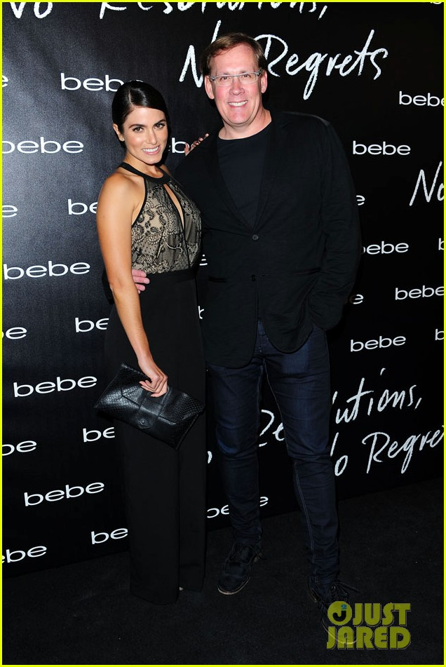 nikki reed nina agdal bebe holiday party 013006348