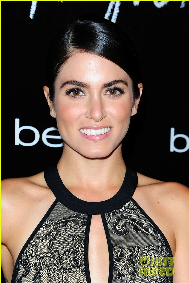 nikki reed nina agdal bebe holiday party 04